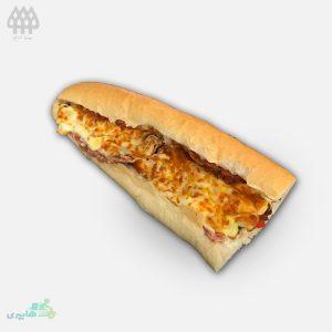 ساندویچ ژامبون مرغ تنوری